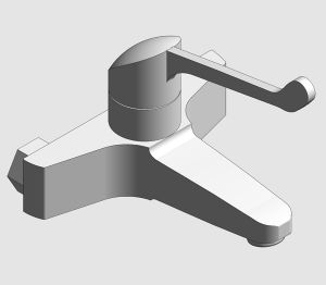 Product: Grohe Euroeco Special Wash Basin Mixer with Wall Mounted Safety Lever - 32823000