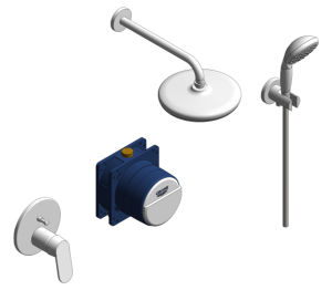 Product: Grohe Eurosmart Cosmopolitan Bundle Perfect Shower Set 210 - 25219001