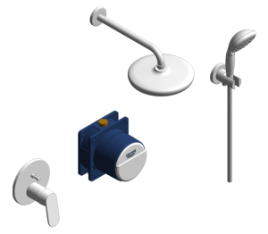 Product: Grohe Get Perfect Bundle Perfect Shower Set 210 - 25220001