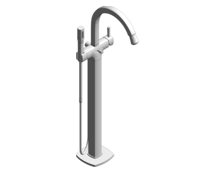 Revit, Bim, Store, Components, MEP, Object, Grohe, Plumbing, Fixtures, 14, METRIC, Grandera, Single, Lever, Bath, Shower, Mixer, 23318000