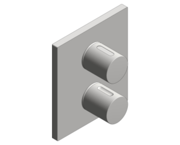 Revit, Bim, Store, Components, MEP, Object, Grohe, Plumbing, Fixtures, METRIC, Grohtherm, 3000, Cosmopolitan, Thermostat, integrated, 2-way, diverter, 19962000