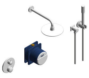 Product: Grohe Grohtherm Round Bundle Perfect Shower Set 210 - 34732000