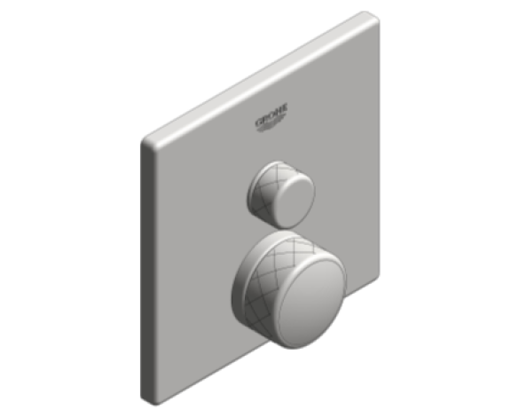 Revit, Bim, Store, Components, MEP, Object, Grohe, Plumbing, Fixtures, 14, METRIC, Grohtherm, Smart, Control, Thermostat, 29123000