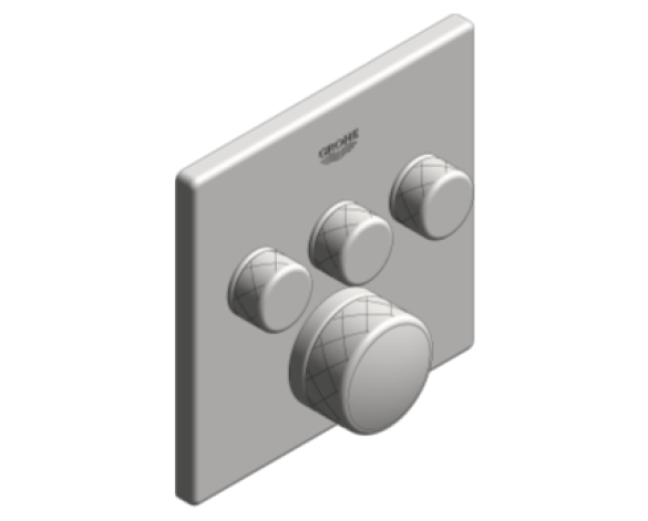 Revit, Bim, Store, Components, MEP, Object, Grohe, Plumbing, Fixtures, 14, METRIC, Grohtherm, Smart, Control, Thermostat, 29126000