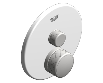 Revit, Bim, Store, Components, MEP, Object, Grohe, Plumbing, Fixtures, 14, METRIC, Grohtherm, Smart, Control, Thermostat, 29150LS0
