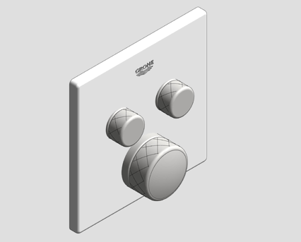 Revit, Bim, Store, Components, MEP, Object, Grohe, Plumbing, Fixtures, 14, METRIC, Grohtherm, Smart, Control, Thermostat, 29156LS0