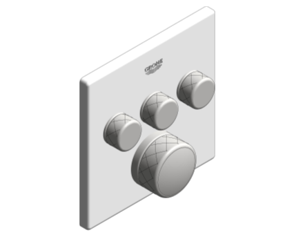 Revit, Bim, Store, Components, MEP, Object, Grohe, Plumbing, Fixtures, 14, METRIC, Grohtherm, Smart, Control, Thermostat, 29157LS0