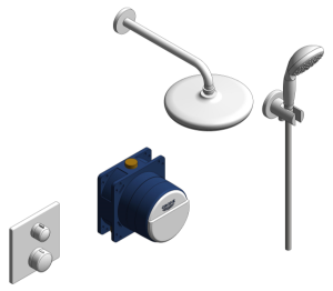 Product: Grohe Grohtherm Square Bundle - 34729000