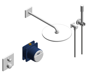 Product: Grohe Grohtherm Square Bundle Perfect Shower Set 310 - 34730000