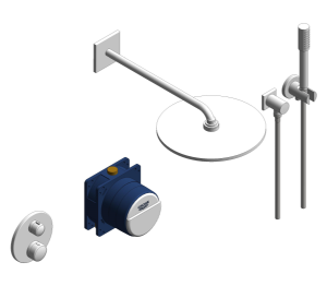 Product: Grohe Grohtherm Square Bundle Perfect Shower Set 310 - 34731000
