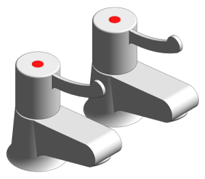 Product: Grohe Hospital Pair Basin Pillar Tap - 117513