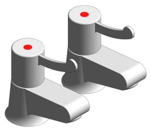 Product: Grohe Hospital Pair Basin Pillar Tap - 117513