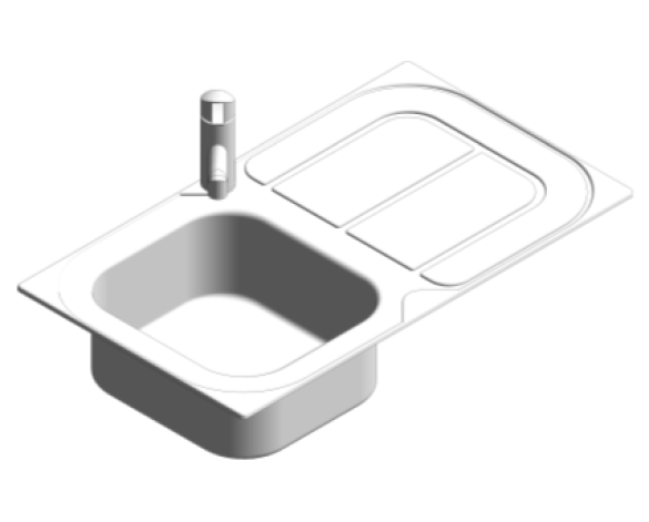 Revit, Bim, Store, Components, MEP, Object, Plumbing, Fixtures, METRIC, Grohe, Kitchen, Chrome, Sink, Bundle, K300, 31565SD0