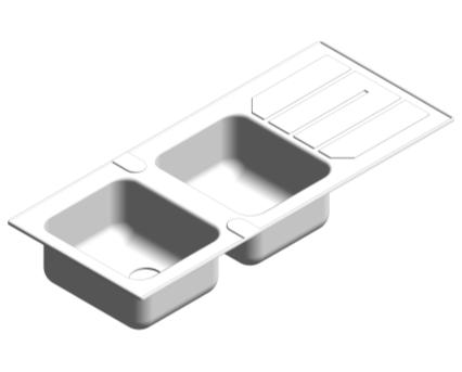 Revit, Bim, Store, Components, MEP, Object, Plumbing, Fixtures, METRIC, Grohe, Kitchen, Chrome, Sink, K500, 31588SD0