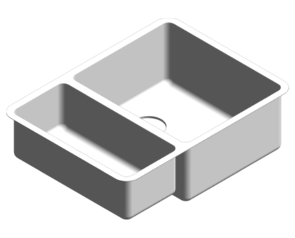 Revit, Bim, Store, Components, MEP, Object, Plumbing, Fixtures, METRIC, Grohe, Kitchen, Chrome, Sink, K700, 31576SD0