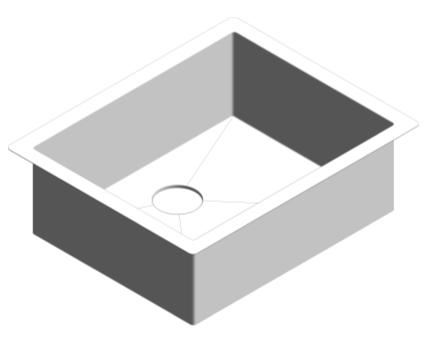 Revit, Bim, Store, Components, MEP, Object, Plumbing, Fixtures, METRIC, Grohe, Kitchen, Chrome, Sink, K700, 31579SD0