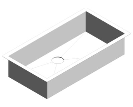 Revit, Bim, Store, Components, MEP, Object, Plumbing, Fixtures, METRIC, Grohe, Kitchen, Chrome, Sink, K700, 31580SD0