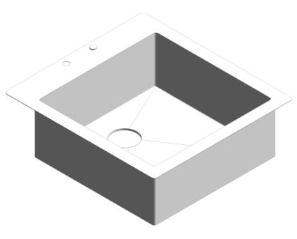 Revit, Bim, Store, Components, MEP, Object, Plumbing, Fixtures, METRIC, Grohe, Kitchen, Chrome, Sink, K800, 31583SD0