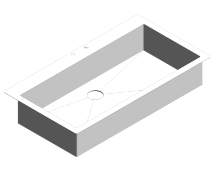 Revit, Bim, Store, Components, MEP, Object, Plumbing, Fixtures, METRIC, Grohe, Kitchen, Chrome, Sink, K800, 31586SD0