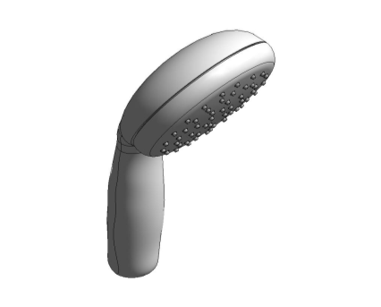Revit, Bim, Store, Components, MEP, Object, Grohe, Plumbing, Fixtures, 14, METRIC, Tempesta 100, Hand, Shower, 26161000