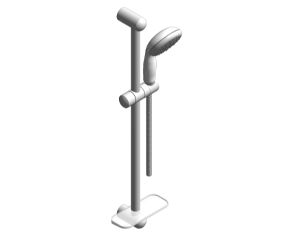 Revit, Bim, Store, Components, MEP, Object, Grohe, Plumbing, Fixtures, 14, METRIC, Tempesta 100, Shower, Rail, Set, 27926000