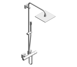 Product: Grohe Rainshower F-Series System 254 Shower system with thermostat for wall mounting - 27469000