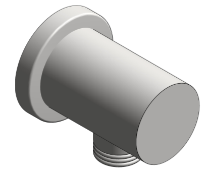 Image of Grohe Rainshower Shower Outlet Elbow - 27057000