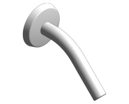 Revit, Bim, Store, Components, MEP, Object, Grohe, Plumbing, Fixtures, 14, METRIC, Shower, Arm, 182, mm, NPT, 27414000
