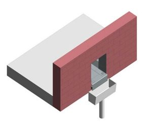 Product: Dryseal GRP Through Wall Hopper