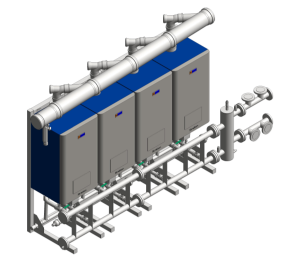Product: Stratton mk2 boiler, with pipe, frame and header kits