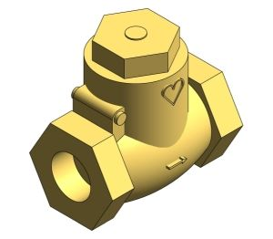 Product: Bronze Swing Check Valve - HVCH25