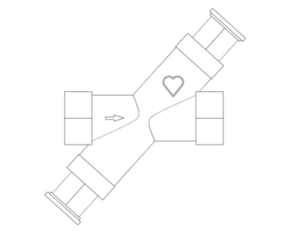 Revit, Bim, Store, Components, MEP, Object, Herz, Valves, Plumbing, Fixtures, 13, Metric, C4011_DHWS, Return, CTC, Compression