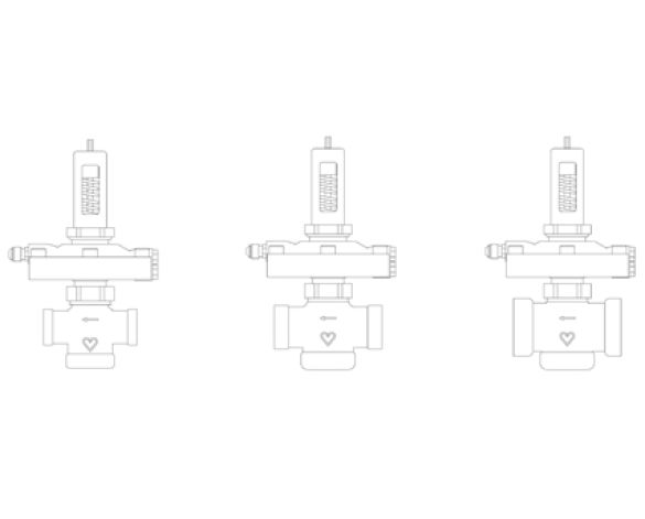 Revit, Bim, Store, Components, MEP, Object, Herz, Valves, Plumbing, Fixtures, 13, Metric, Differential, Pressure, Control, Valve, 5, -30kPA, 14002-4, brass, Dezincification-resistant, linear, controller, auxiliary, power