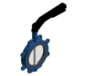 Product: Fully Lugged Lever Butterfly Valve - HVBFFLL