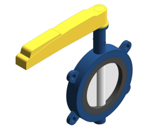 Product: Fully Lugged Lever Gas Butterfly Valve - HVBFFLL