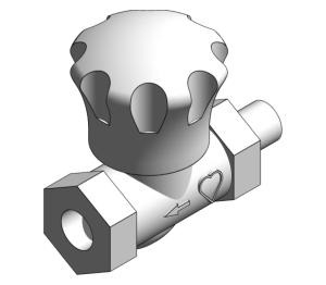Product: Radiator Lock-shield Return Straight Thermostatic Valve - 15523