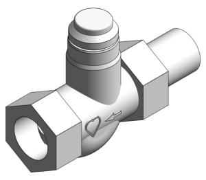 Product: Radiator Lock-shield Thermostatic Valve - 13723