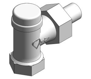Product: Radiator Lock-shield Thermostatic Valve (Body Angle) - 13924