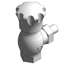 Product: Radiator Lock-shield Thermostatic Valve (Body Angle) - 16824