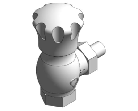 Revit, Bim, Store, Components, MEP, Object, Herz, Valves, Plumbing, Fixtures, 13, Metric, thermostatic, radiator, valve, angle, reverse, body, 16824