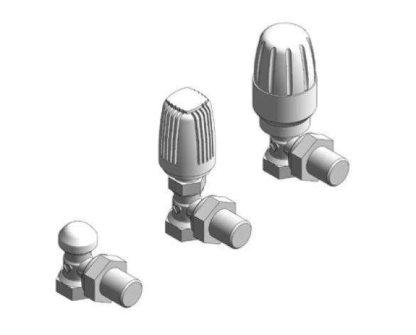 Revit, Bim, Store, Components, MEP, Object, Herz, Valves, Plumbing, Fixtures, 13, Metric, thermostatic, radiator, valve, angle, body, 17724