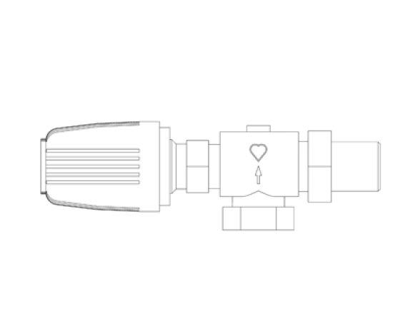 Revit, Bim, Store, Components, MEP, Object, Herz, Valves, Plumbing, Fixtures, 13, Metric, thermostatic, radiator, valve, angle, reverse, body, 17728