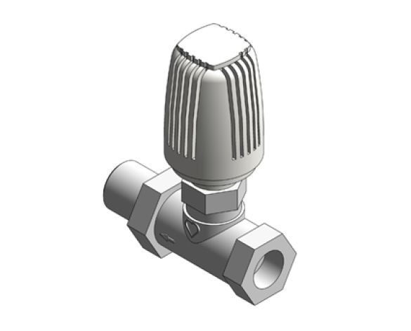 Revit, Bim, Store, Components, MEP, Object, Herz, Valves, Plumbing, Fixtures, 13, Metric, thermostatic, radiator, valve, straight, body, 17723