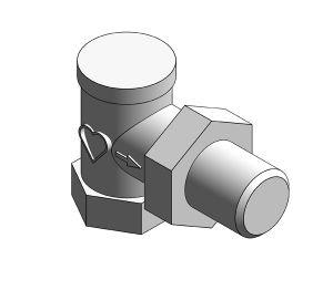 Product: Radiator Valve - Lockshield- Return Angled - 13724