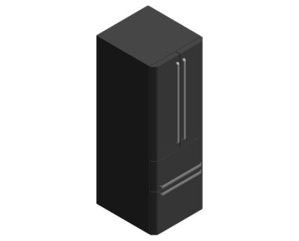 Revit, BIM, Mechanical, Kitchen, Hot, Point, Hotpoint, Fridge, freezer, FFU4D K