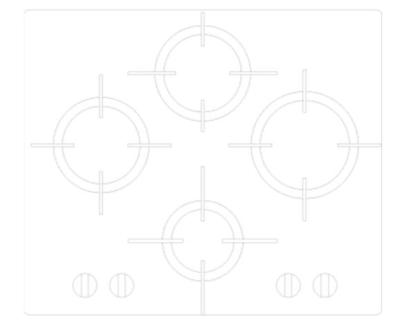 Revit, BIM, Mechanical, Kitchen, Hot, Point, Hotpoint, Hob, FTGH, G641D, HA