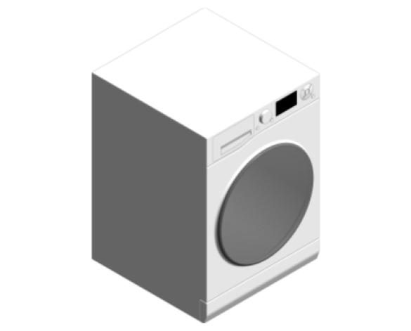 Revit, BIM, Mechanical, Kitchen, Hot, Point, Hotpoint, Ultima, S-Line, Washing, Machine, RZ 1066 W UK