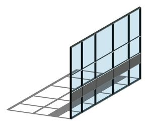 Product: AA100 (50mm) Curtain Wall System - Dual Colour
