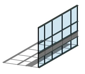 Product: AA100 (50mm) Curtain Wall System - HC
