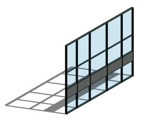 Product: AA100 (50mm) Curtain Wall System - Mullion Drained